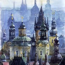 Пазл онлайн: Крыши Праги