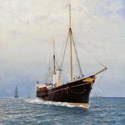 Пазл онлайн: Императорская яхта