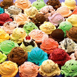 Пазл онлайн: Мороженое