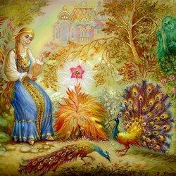 Пазл онлайн: Аленький цветочек