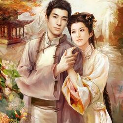 Пазл онлайн: Молодая пара