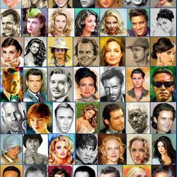 Пазл онлайн: Звёзды Голливуда