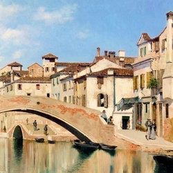 Пазл онлайн: Венецианский канал