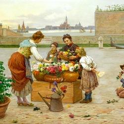 Пазл онлайн: Покупка цветов