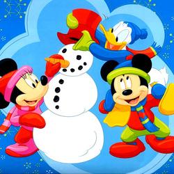 Пазл онлайн: Снеговичок