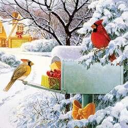 Пазл онлайн: Праздничная почта