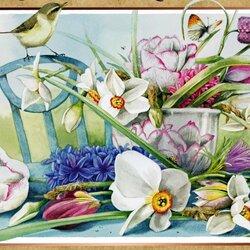 Пазл онлайн: Цветы весны