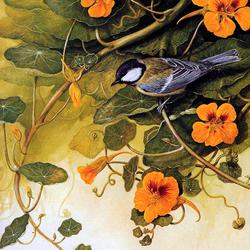 Пазл онлайн: Птичка-синичка
