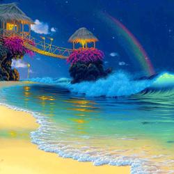 Пазл онлайн: Райский пляж