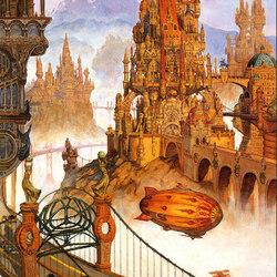 Пазл онлайн: Фантастический город