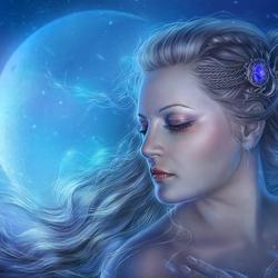 Пазл онлайн: Дикая луна
