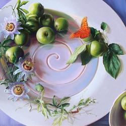 Пазл онлайн: Натюрморт на тарелке