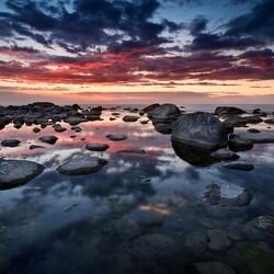 Пазл онлайн: Небо и камни