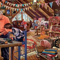 Пазл онлайн: Дедушкин чердак
