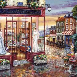 Пазл онлайн: Свадебный салон