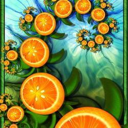 Пазл онлайн: Апельсиновый твист