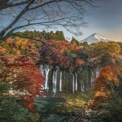 Пазл онлайн: Водопад Шираито