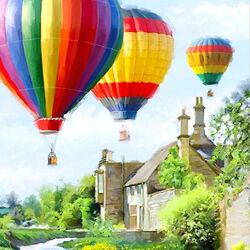 Пазл онлайн: Воздушные шары