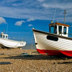 Пазл онлайн: Лодки на берегу