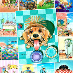Пазл онлайн: Собачья жизнь