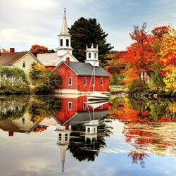 Пазл онлайн: Осенние отражения