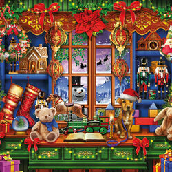 Пазл онлайн: Рождественский магазин