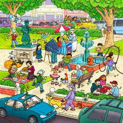 Пазл онлайн: Летом на бульваре
