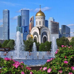 Пазл онлайн: Парк Победы на Поклонной горе
