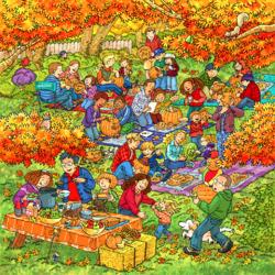 Пазл онлайн: Осенние радости