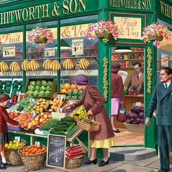 Пазл онлайн: Свежие фрукты