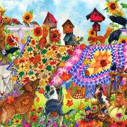 Пазл онлайн: Садовое одеяло