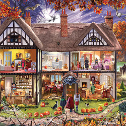 Пазл онлайн: Дом в Хэллоуин