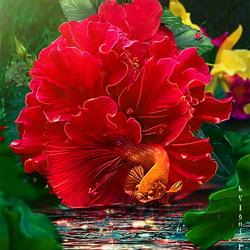 Пазл онлайн: Оживший цветок
