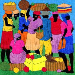 Пазл онлайн: Базарный день на Гаити