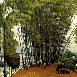Пазл онлайн: У бамбуковой рощи