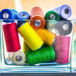 Пазл онлайн: Коробочка с нитками