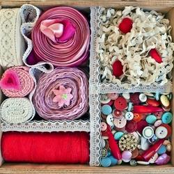 Пазл онлайн: Коробочка для рукоделия