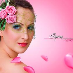 Пазл онлайн: Цвета весны - розовый