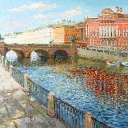 Пазл онлайн: Аничков мост