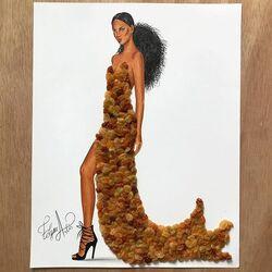 Пазл онлайн: Платье из изюма