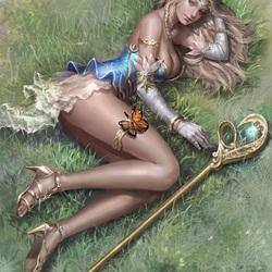 Пазл онлайн: Светлая эльфийка