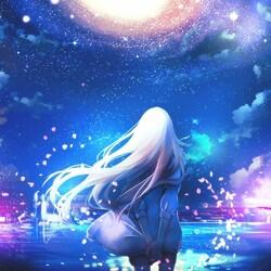 Пазл онлайн: Ночное небо