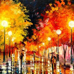 Пазл онлайн: Дождливая ночь