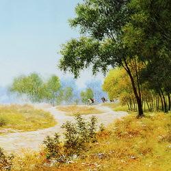Пазл онлайн: Лесной пейзаж