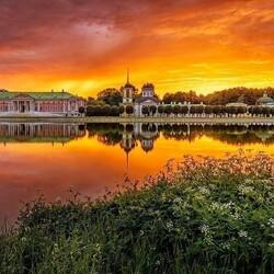 Пазл онлайн: Рассвет в Кусково