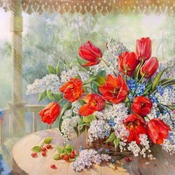 Пазл онлайн: Весенний аромат