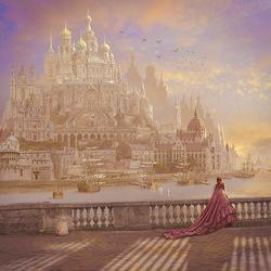 Пазл онлайн: Золотой город утром