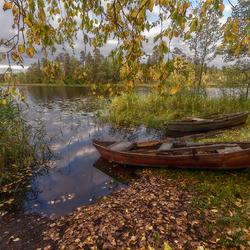 Пазл онлайн: Про осень и лодочки