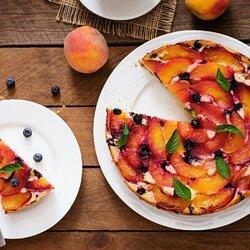 Пазл онлайн: Персиковый пирог