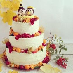 Пазл онлайн: Осенний торт